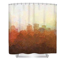 Shower Curtain featuring the digital art Norfolk Virginia Skyline by Marlene Watson
