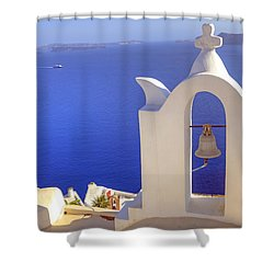 Oia - Santorini Shower Curtain by Joana Kruse