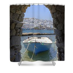 Paros - Cyclades - Greece Shower Curtain