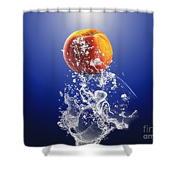 Peach Splash Shower Curtain