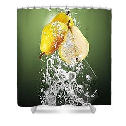 Pear Splash Collection Shower Curtain
