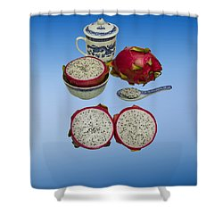 Shower Curtain featuring the photograph Pink Dragon Fruit  by David French