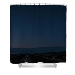 5 Planet Alignment Panorama Shower Curtain