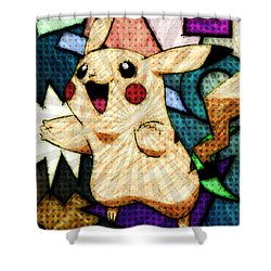 Pokemon - Pikachu Shower Curtain by Kyle West