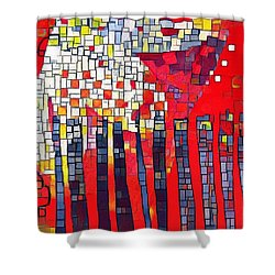 Red Series 4 Shower Curtain