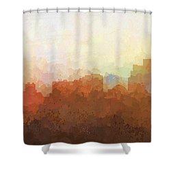 Shower Curtain featuring the digital art Reno Nevada Skyline by Marlene Watson
