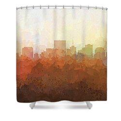Shower Curtain featuring the digital art Richmond Virginia Skyline by Marlene Watson