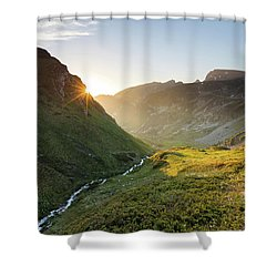 Rila Mountain Shower Curtain by Evgeni Dinev