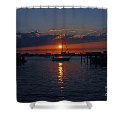 5- Sailfish Marina Sunset In Paradise Shower Curtain