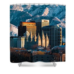 Salt Lake City Utah Usa Shower Curtain