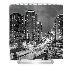 Seoul Night Rush Shower Curtain