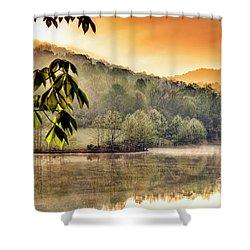 Stonewall Resort Sunrise Shower Curtain by Thomas R Fletcher