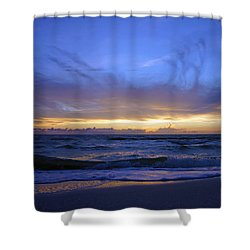 Sunset At Delnor Wiggins Pass State Park Shower Curtain by Robb Stan