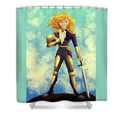 Tammy Wurtherington Freedom Fighter Shower Curtain