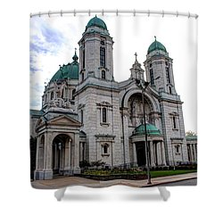 The Basilica Shower Curtain by Michael Frank Jr
