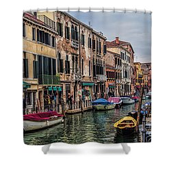 Shower Curtain featuring the photograph Venice by Shirley Mangini