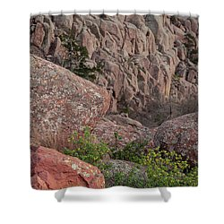 Shower Curtain featuring the photograph Wichita Mountains by Iris Greenwell