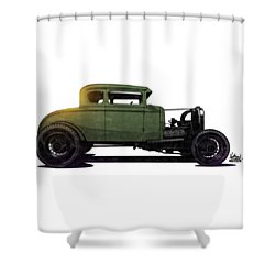 5 Window Hot Rod Shower Curtain
