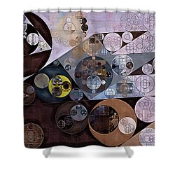 Shower Curtain featuring the digital art Abstract Painting - Zinnwaldite Brown by Vitaliy Gladkiy