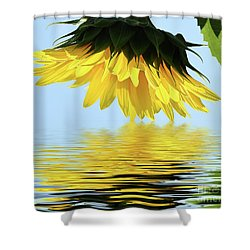 Nice Sunflower Shower Curtain by Elvira Ladocki