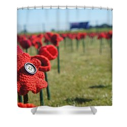 5000 Poppies Shower Curtain by Therese Alcorn