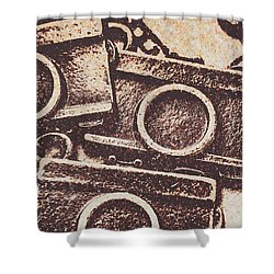50s Brownie Cameras Shower Curtain