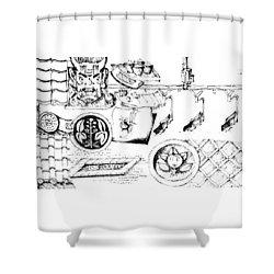 5.19.japan-4-detail-c Shower Curtain