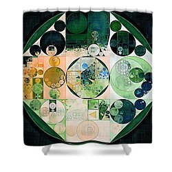 Shower Curtain featuring the digital art Abstract Painting - Onyx by Vitaliy Gladkiy