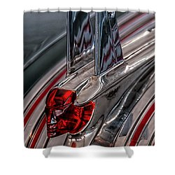 53 Pontiac Chieftan Hood Ornament Shower Curtain