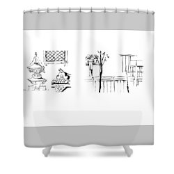 5.3.japan-1-details-roof-and-fence Shower Curtain