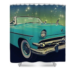 54 Ford Sunliner Date Night Saturday Night Shower Curtain