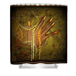 544 -  Gold Fingers  2017 Shower Curtain