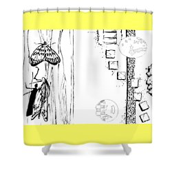 5.4.japan-1-butterfly-and-walkway Shower Curtain