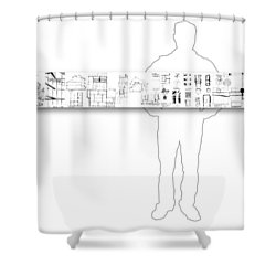 5.5.japan-2-horizontal-with-figure Shower Curtain