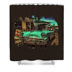 57 Buick - Just Coolin' It Shower Curtain
