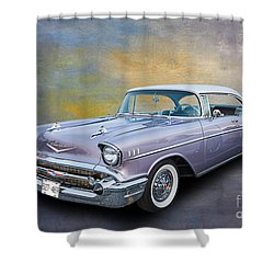 57 Chev Classic Car Shower Curtain