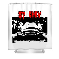 Shower Curtain featuring the digital art 57 Chev by Kim Gauge