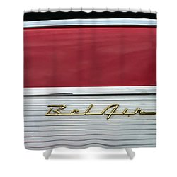 Shower Curtain featuring the photograph 57 Chevy Bel Air by Mark Guinn