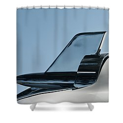 57 Chevy Belair Hood Rocket 2 Shower Curtain by Jani Freimann