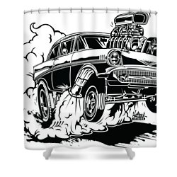 '57 Gasser Cartoon Shower Curtain