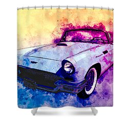 57 Thunderbird Watercolour Shower Curtain