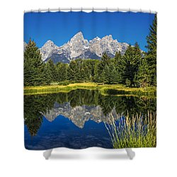 #5700 - Shwabakers Landing, Wyoming Shower Curtain