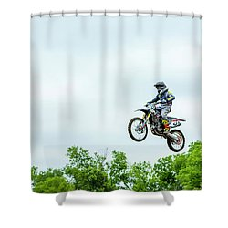 Shower Curtain featuring the photograph 573 Flying High At White Knuckle Ranch by David Morefield