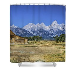 #5730 - Mormon Row, Wyoming Shower Curtain