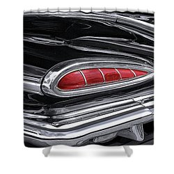 59 Chevy Tail Light Detail Shower Curtain