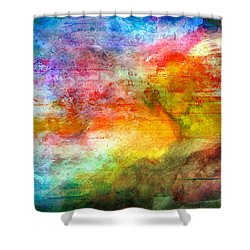 5a Abstract Expressionism Digital Painting Shower Curtain