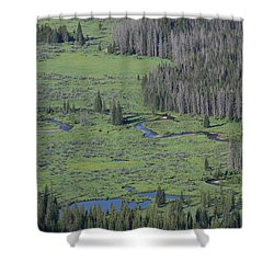 Scenery Rocky Mountain Np Co Shower Curtain