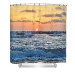 6/26 Obx Sunrise Shower Curtain