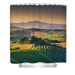 A Morning In Tuscany Shower Curtain