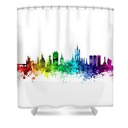Aberdeen Scotland Skyline Shower Curtain